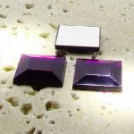 Amethyst Jewel Faceted - 15mm. Square Cabochons - Lots of 144