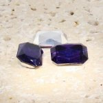Amethyst Jewel - 25x18mm Octagon Faceted Gem Jewels - Lots of 72