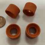 CARAMEL MATTE 18X13MM LARGE HOLE DONUT BEADS - Lot of 12