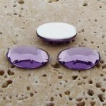Light Amethyst Faceted - 14x10mm. Oval Cabochons - Lots of 144