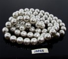 GREY 10MM ROUND SMOOTH JAPANESE PEARLS - Lot of 78