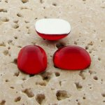 Ruby Jewel - 15x11.5mm. Rectangle Domed Cabochons - Lots of 144