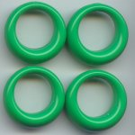 GREEN 27MM ROUND 1-HOLE PENDANTS - Lot of 12