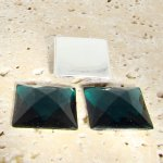 Emerald Jewel Faceted - 20mm. Square Cabochons - Lots of 144