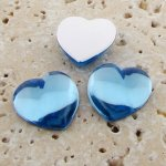 Light Sapphire Jewel Smooth - 18mm Heart Cabochons - Lots of 144