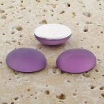Light Amethyst Frosted - 40x30mm. Oval Cabochons - Lots of 12