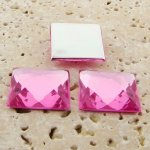 Rose Jewel Faceted- 20mm. Square Domed Cabochons - Lots of 144