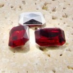 Ruby Jewel - 14x10mm. Octagon Faceted Gem Jewels - Lots of 144