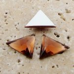 Topaz Jewel Faceted - 18x18mm. Triangle Cabochons - Lots of 144