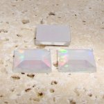 Crystal AB Jewel Faceted - 12mm. Square Cabochons - Lots of 144