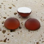 Topaz Matte Frosted - 13mm. Round Domed Cabochons - Lots of 144