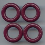 BURGUNDY 6X31MM ROUND 2-HOLE RING PENDANTS - Lot of 12