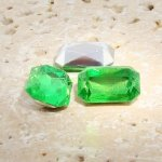 Peridot - 14x10mm. Octagon Faceted Gem Jewels - Lots of 144