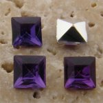 Amethyst Jewel - 6x6mm. Square Faceted Gem Jewels - Lots of 144