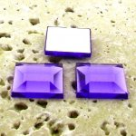 Violet Jewel Faceted - 15mm. Square Cabochons - Lots of 144