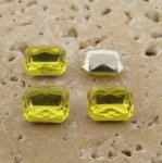 Lime Jonquil Jewel -10x8mm Octagon Faceted Gem Jewel- Lot of 144