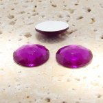 Fuchsia Jewel Multi Faceted - 18mm Round Cabochons - Lots of 144