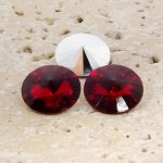 Ruby Jewel - 8mm. Round Rivoli Rhinestone Jewels - Lots of 144