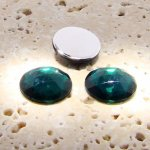 Emerald Jewel Multi Faceted - 18mm Round Cabochons - Lots of 144