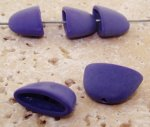 PURPLE MATTE 20MM FLAT BEAD CAPS - Lot of 12