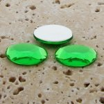 Peridot Jewel Faceted - 25x18mm. Oval Cabochons - Lots of 72