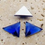 Sapphire Faceted - 18x18mm. Triangle Cabochons - Lots of 144