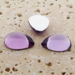 Light Amethyst Jewel - 13x8.5mm. Pear Cabochons - Lots of 144