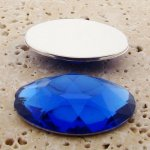 Sapphire Jewel Faceted - 40x30mm. Oval Cabochons - Lots of 12