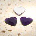Amethyst Jewel Faceted - 15mm. Heart Cabochons - Lots of 144