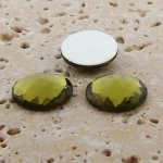 Olivine Jewel Multi Faceted - 20mm Round Cabochons - Lots of 72