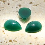 Jade Opaque - 25x18mm. Pear Domed Cabochons - Lots of 72