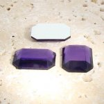 Amethyst Jewel Faceted - 40x30mm. Octagon Cabochons - Lots of 12