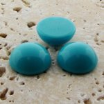 Turquoise Opaque - 11mm. Round Domed Cabochons - Lots of 144