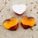 Madeira Topaz Jewel Smooth - 18mm Heart Cabochons - Lots of 144