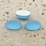 Light Sapphire Matte Frosted - 8x6mm Oval Cabochons - Lot of 144