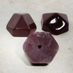 Brown - 21mm. Hexagon Domed Cabochons - Lots of 12