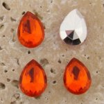 Orange Jewel - 15x11mm. Pear Faceted Gem Jewels - Lots of 144