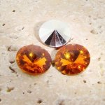 Madeira Topaz Jewel-8mm Round Rivoli Rhinestone Jewel-Lot of 144