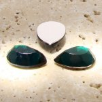 Emerald Jewel Faceted - 13x8.5mm. Pear Cabochons - Lots of 144