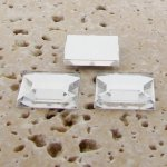 Crystal Jewel Faceted - 8mm. Square Cabochons - Lots of 144