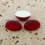 Ruby Matte Frosted - 8x6mm. Oval Domed Cabochons - Lots of 144