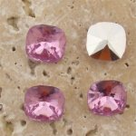 Rose Jewel - 12x12mm Square Cushion Faceted Jewel - Lot of 144