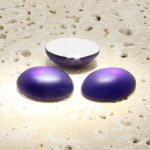 Amethyst Matte Frosted - 18x13mm. Oval Cabochons - Lots of 144