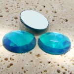 Blue Zircon Jewel Multi Facet - 25mm Round Cabochons - Lot of 72