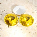 Jonquil - 12mm. Round Rivoli Rhinestone Jewels - Lots of 144