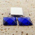 Sapphire Jewel Faceted - 20mm. Square Cabochons - Lots of 144