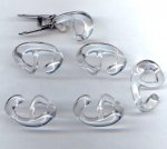 Crystal - 26mm. Oval Plastic Hooks - Sold in Lots of 12