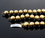 "GOLD 10MM JAPANESE PEARL TIPPED 14,16 & 17"" SECTION - Lot of 3"