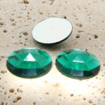Emerald Jewel Multi Faceted - 25mm Round Cabochons - Lots of 72