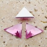 Light Amethyst Facet - 18x18mm Triangle Cabochons - Lots of 144